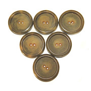 "6 Buttons Vintage True Deco BAKELITE Six COAT LARGE 1 1/2"" Butterscotch Swirls"