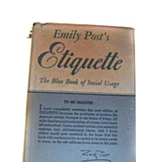Emily POST'S Etiquette Book Revised 1947 Post War FABULOUS
