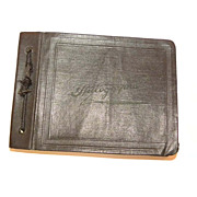 Autograph Book 1930's Classmates POEMS Leather Bound Made In USA