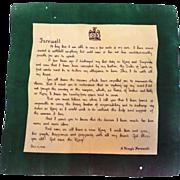 1936 A King's Farewell Edward VIII Historical Textile Frameable