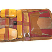 SALE 1920's Gillette SHAWMUT Razor Shaver Travel Personal Valet Grooming Kit Bakelite Set