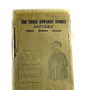 Child's Coat Pattern Sewing ANTIQUE Three Edwards Stores INTACT