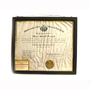 REDUCED 1918 Pharmacist License DIPLOMA Certificate NEW YORK STATE UNIVERSITY Regents  Pharmac