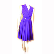 Butte Knit 1960s Purple POLYESTER Dress Size 14 Time To PARTY!