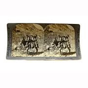 """REDUCED Stereo View Card ALBUMEN 1906 E W Kelley """"Rocky Mountain Group Colorado"""""""