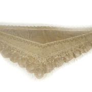 Fichu Silk Lace VICTORIAN Shoulder Collar ECRU Amazing Detail