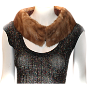 Mink Removable Fur Shawl Collar Coat Dress ACCESSORY
