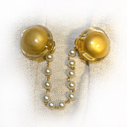 Sweater Clips Large Acrylic Gold And Clear DOUGHNUTS Way Cool!