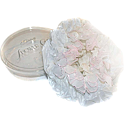 Celebrity Shower Cap NEW OLD STOCK Plastic Voile Embroidered Flowers