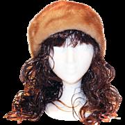 Vintage Honey Mink Hat Cap Fur