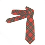 Pendleton Tie Cravat 100% Virgin Wool Red Plaid MADE IN USA