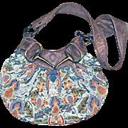 "SOLD MARY FRANCES Hobo Purse Bag Handbag BEADED Accessory 27"" Strap Mint Green Satin"