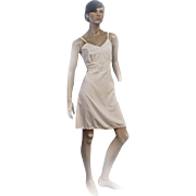 1950s Laros Full Slip Ladies Pale Pink Nylon Dacron Cordura Size 36