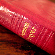 SOLD 19th Century Red Leather Bound Book Of Common Prayer