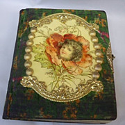 REDUCED Victorian Photo Album Celluloid Little Girl Poppy