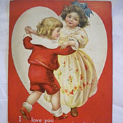 SALE Signed Clapsaddle Valentine Postcard 1913