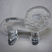 Kosta Boda Zoo Series Glass Lion Large