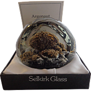 SALE Selkirk Glass Paperweight 1981 Argonaut Peter Holmes Signed Box Certificate 35/350