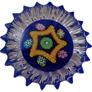 SALE Perthshire Paperweight PP61 Millefiori Fluted Edge 1983-1985