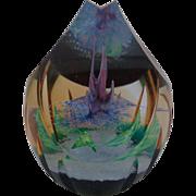Aztec Rainflower Caithness Scotland Paperweight Abstract