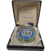 REDUCED Whitefriars Paperweight 1976 Christmas 3 Wise Men Star of Bethlehem