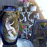 """SALE Incredible Elite France Limoges 1900's Hand Painted """"Three Nudes Frolicking in A Gro"""