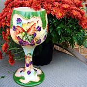 """SALE Wonderful 1900's Vintage Belleek Hand Painted """"Blackberries"""" in the Tradition o"""