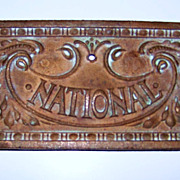 1900 Antique National Cash Register Highly Decorative Drawer Front Plate