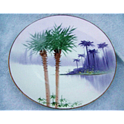 "SALE Exotic Bavaria & J.H.Stouffer Co. of Chicago 1900's Hand Painted ""Palm Trees & the E"