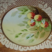 "Superb Pickard Artist ""Apples"" Decor 9"" Plate by ""Klipphahn"""