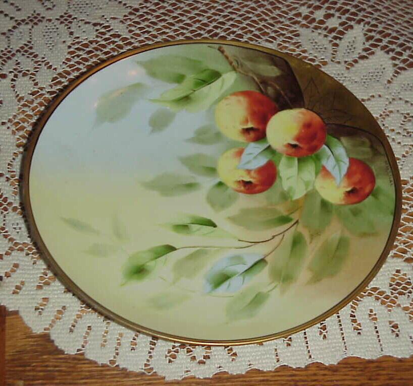 "Superb Pickard Artist ""Apples"" Decor 9"" Plate by ""Klipphahn"""