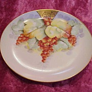 "Vintage 1900's Austria ""Red Currant"" 6-5/8"" Plate by Edward Donath Artist """