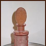 Czech Hoffman Pink Grecian Women and Flower Stopper Perfume