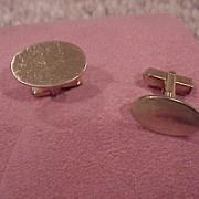 Gentleman's Cufflinks, Oval Shape - 12K GF - circa 1970