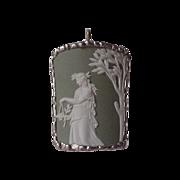 Wedgwood Pendant - Green Jasperware - set in Sterling Silver