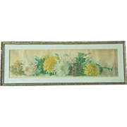 Antique Paul de Longpre Study of Chrysanthemums Yard Long Print