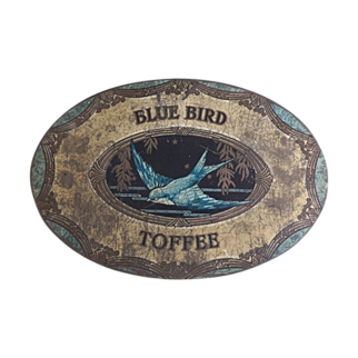 Vintage BLUE BIRD  English Toffee Candy Tin