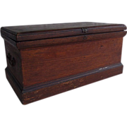 SOLD Antique Oak Small Tool Chest