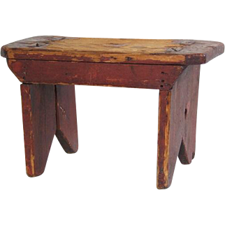 Early Painted Cricket Stool