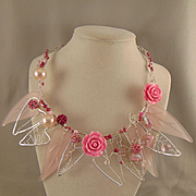 SOLD Sterling Silver In the Pink Choker