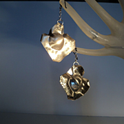 Hammered and Sculpted SSF Sheet Earrings