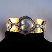 Brass and Pewter Bracelet