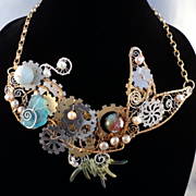 Mixed Metal Fish Necklace