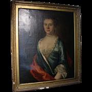 18th Century English Elizabeth Scott Painting Unsigned Hogarth Workshop
