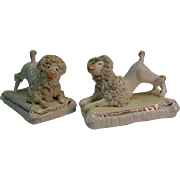 Matched Pair Staffordshire Poodle Figurine