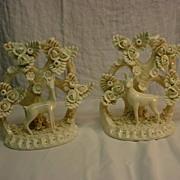 REDUCED Made in Italy Vintage Pair Deer Figurine