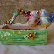 Vintage Italy D'Inari Signed Love Birds Dish
