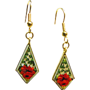 Micro Mosaic Brilliant Diamond Shape Earrings