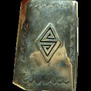 Southwestern Sterling Silver Card Case