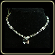 SOLD Natural Quartz Crystal and Sterling Silver Necklace